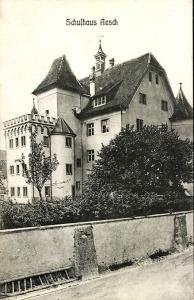 AK Aesch - Schulhaus Schloss Feldpost 1917